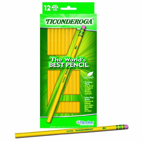 Dixon Ticonderoga 13812 No  2 Ticonderoga Woodcase Pencil - Yellow