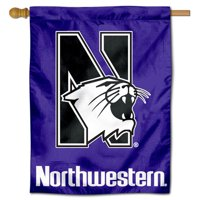 """Northwestern Wildcats 30"""" x 40"""" House Flag and Banner"""