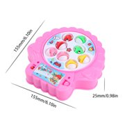 Fishing Game Board Pool Play Set with Light Music Fish Rods Electric Learning Educational Toys for Boys Girls Toddlers Kids
