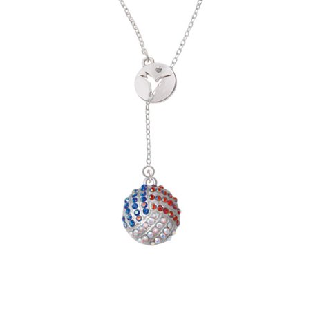 1425f223d Delight Jewelry - Large Super Sparkle Crystal Red White & Blue ...