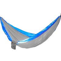 Portable Two Person Hammock - Gray with Blue