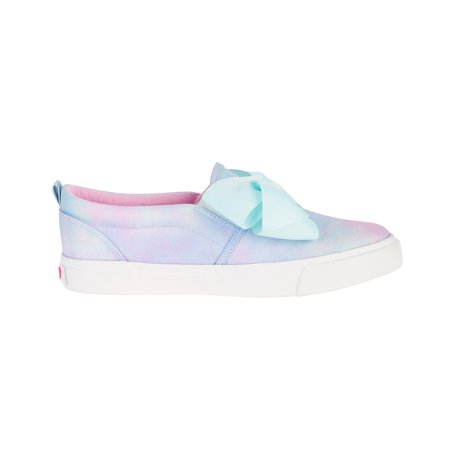 Girl's Canvas Slip On Sneaker with Bow