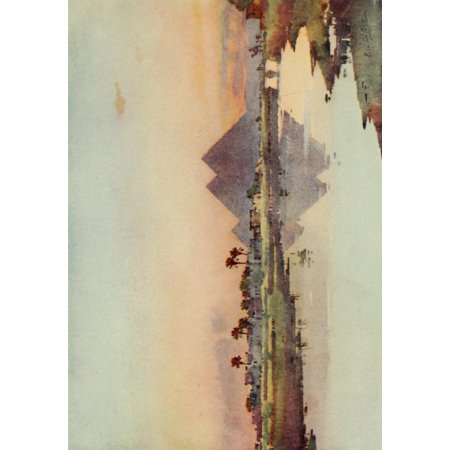 The Banks Of The Nile 1913 The Second Pyramid At Giza Canvas Art   Ella Du Cane  24 X 36