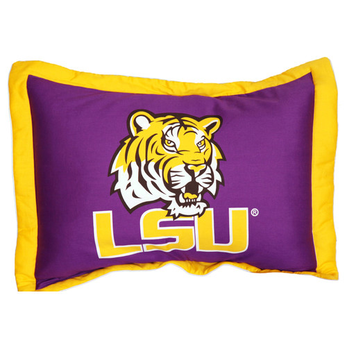College Covers NCAA LSU Pillow Sham