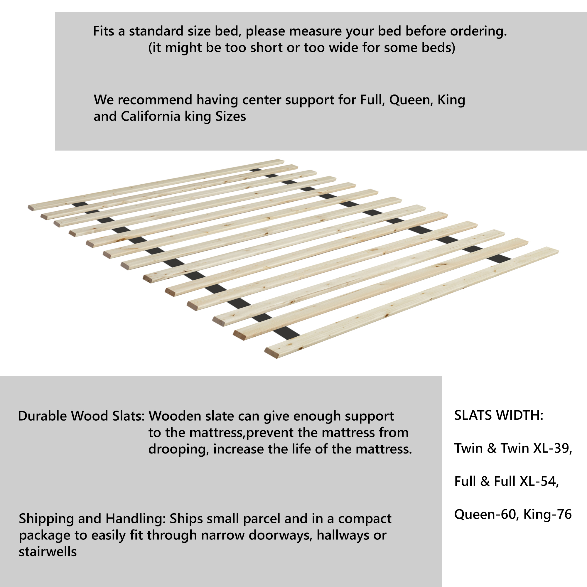 Full Mainstays Heavy Duty Slat Bed Frame King and Cali king -Black Twin