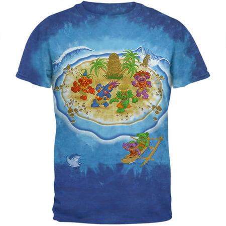 Grateful Dead - Tiki Bears Tie Dye T-Shirt (Dancing Bear Grateful Dead)