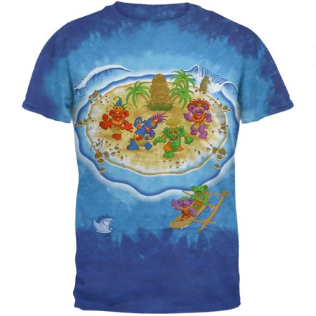 Grateful Dead - Tiki Bears Tie Dye T-Shirt (Grateful Dead Tiki Bears)