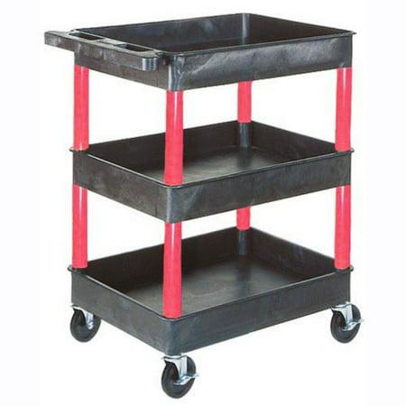 (Luxor 3 Shelf Heavy Duty Tub Cart)