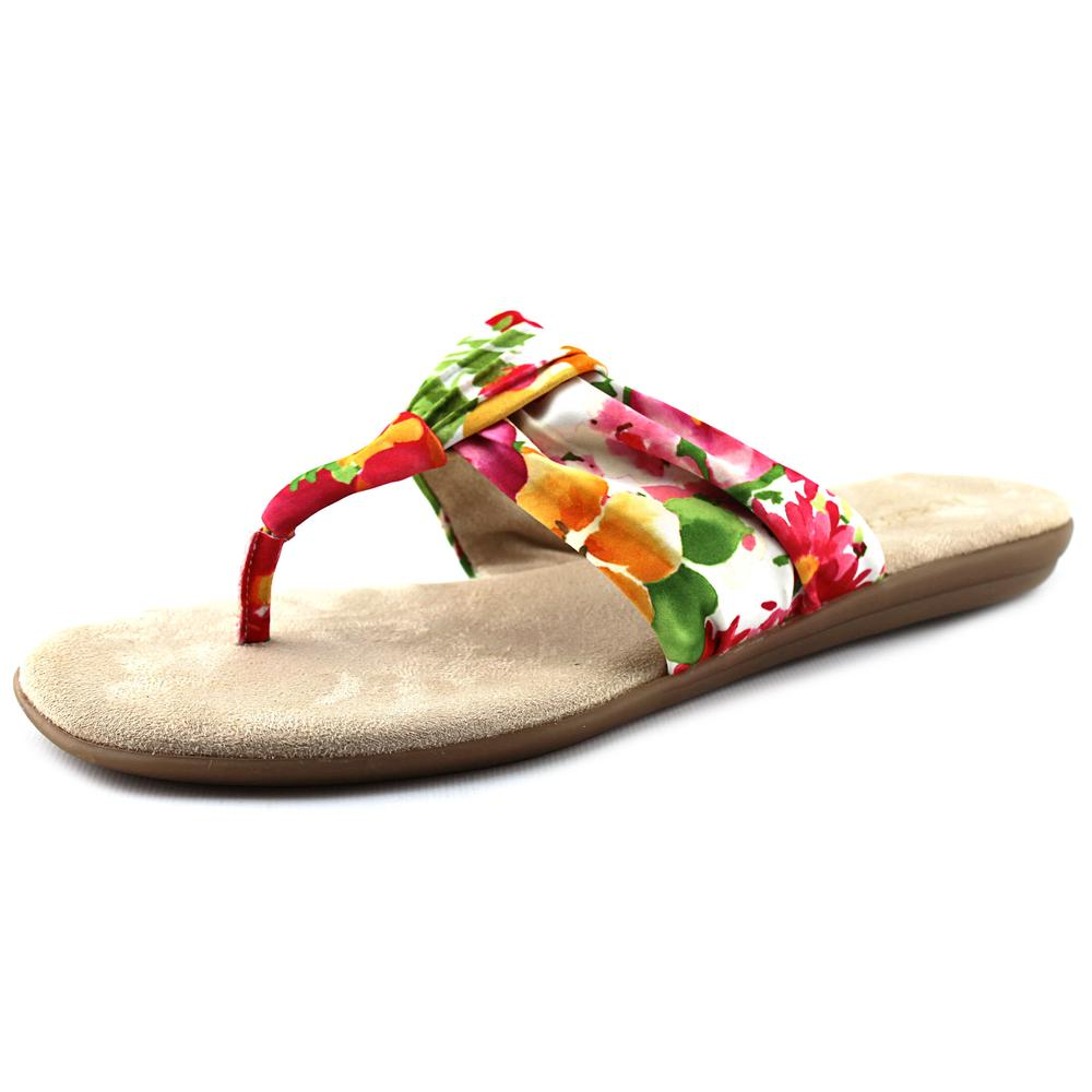 Aerosoles Chlairvoyant Women Open Toe Canvas Multi Color Thong Sandal by Aerosoles