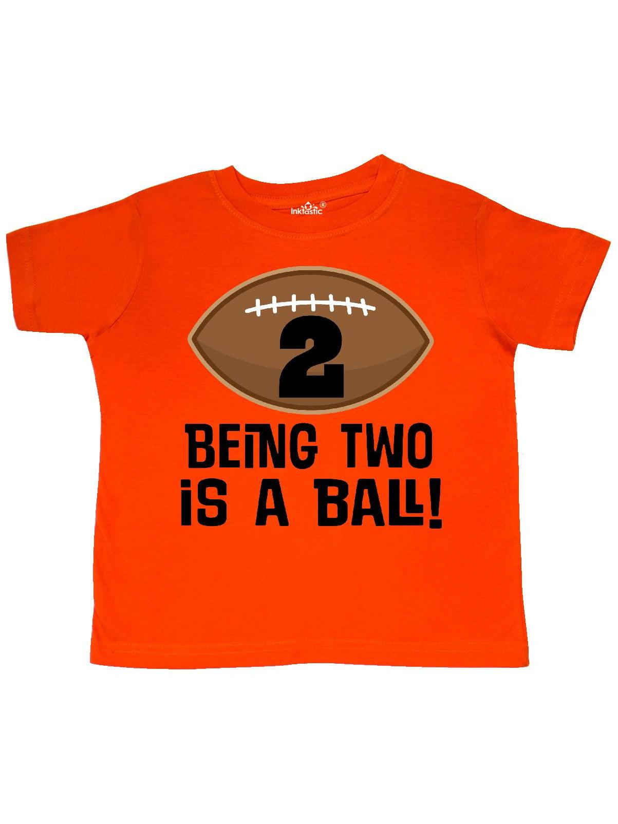 2nd Birthday Football Sports Boys Toddler T-Shirt