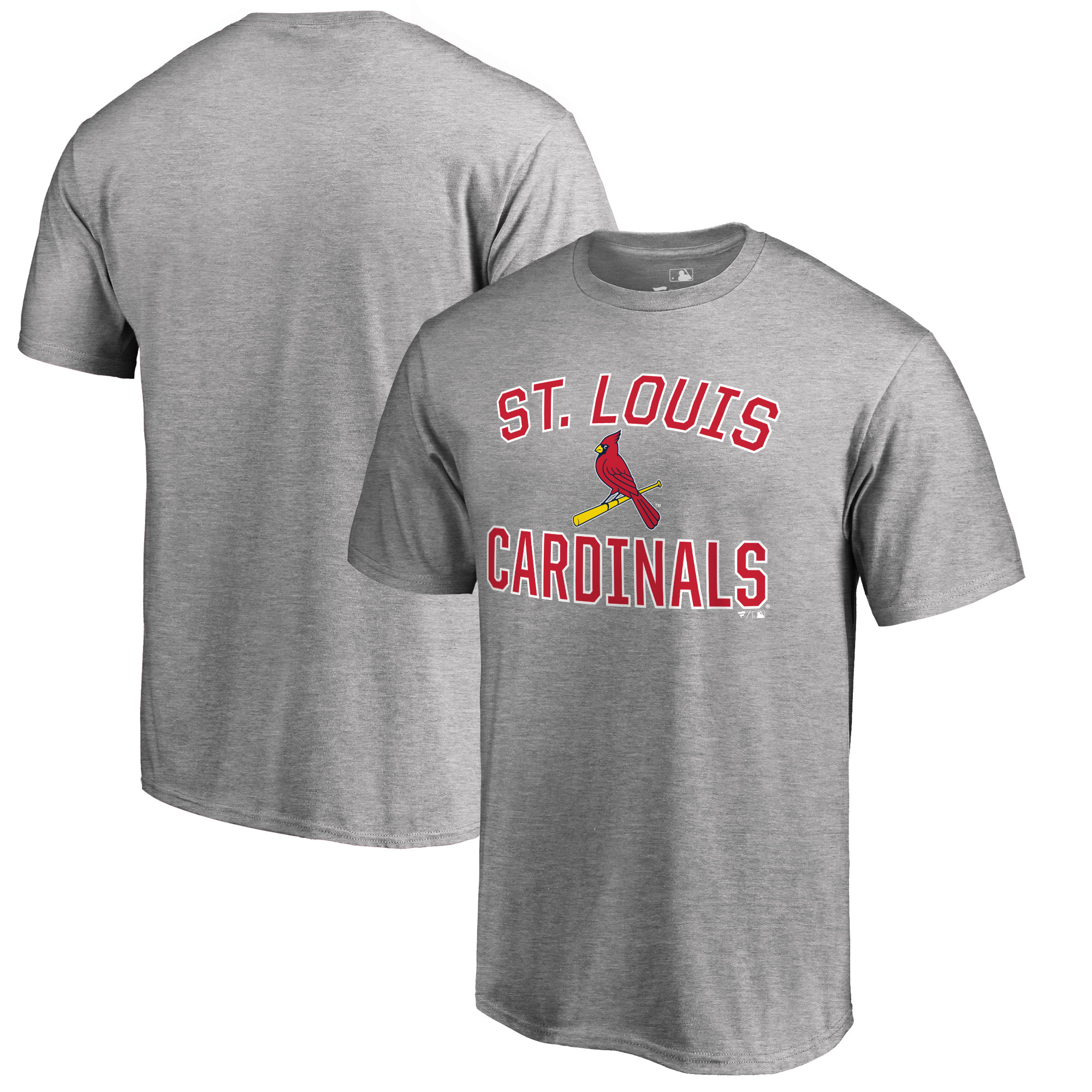 St. Louis Cardinals Big & Tall Victory Arch T-Shirt - Ash