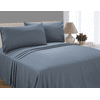 Mainstays Soft Wrinkle Resistant Microfiber Queen Grey Sheet Set