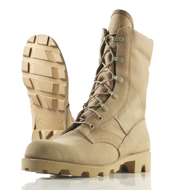 Wellco Hot Weather Jungle Boot, T930B, Tan, Size 10.5R by Wellco