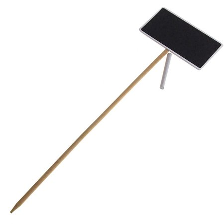 Wooden Chalkboard Stake with White Border, Rectangle, 18-Inch ()