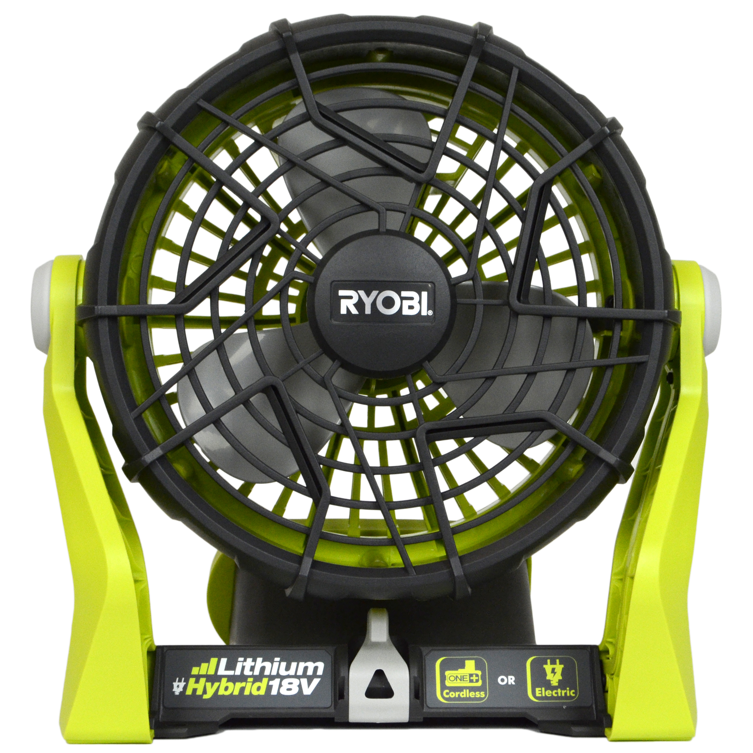 Ryobi P3320 120V AC or 18V ONE+ Dual Power Portable Hybrid Electric Fan, Tool Only by