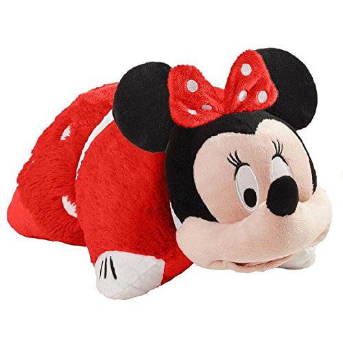 "Pillow Pets 16"" Disney Mouse Rockin' the Dots Minnie Stuffed Animal Plush Toy Pillow Pet"