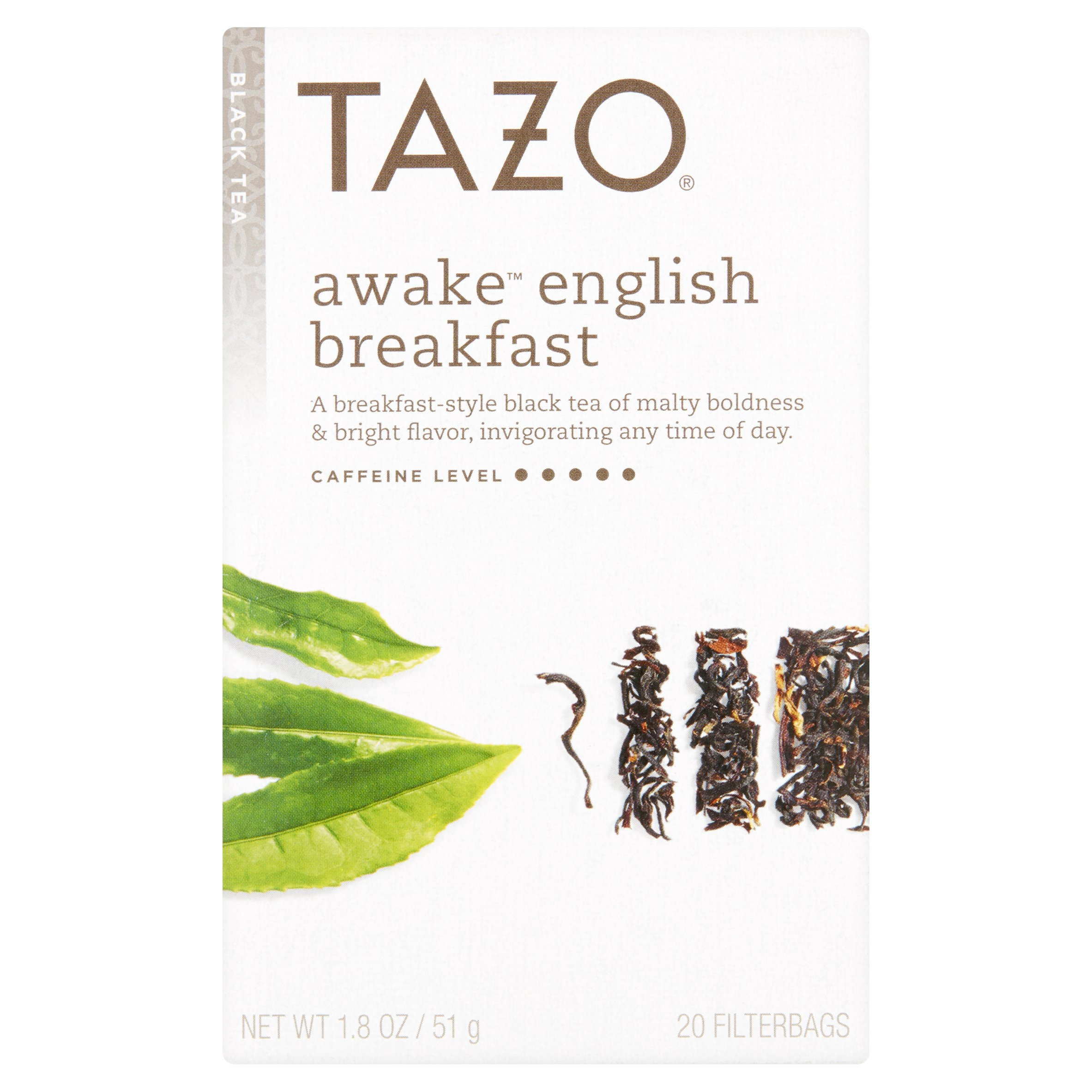 Tazo Awake English Breakfast Black Tea Filterbags, 20 count, 1.8 oz