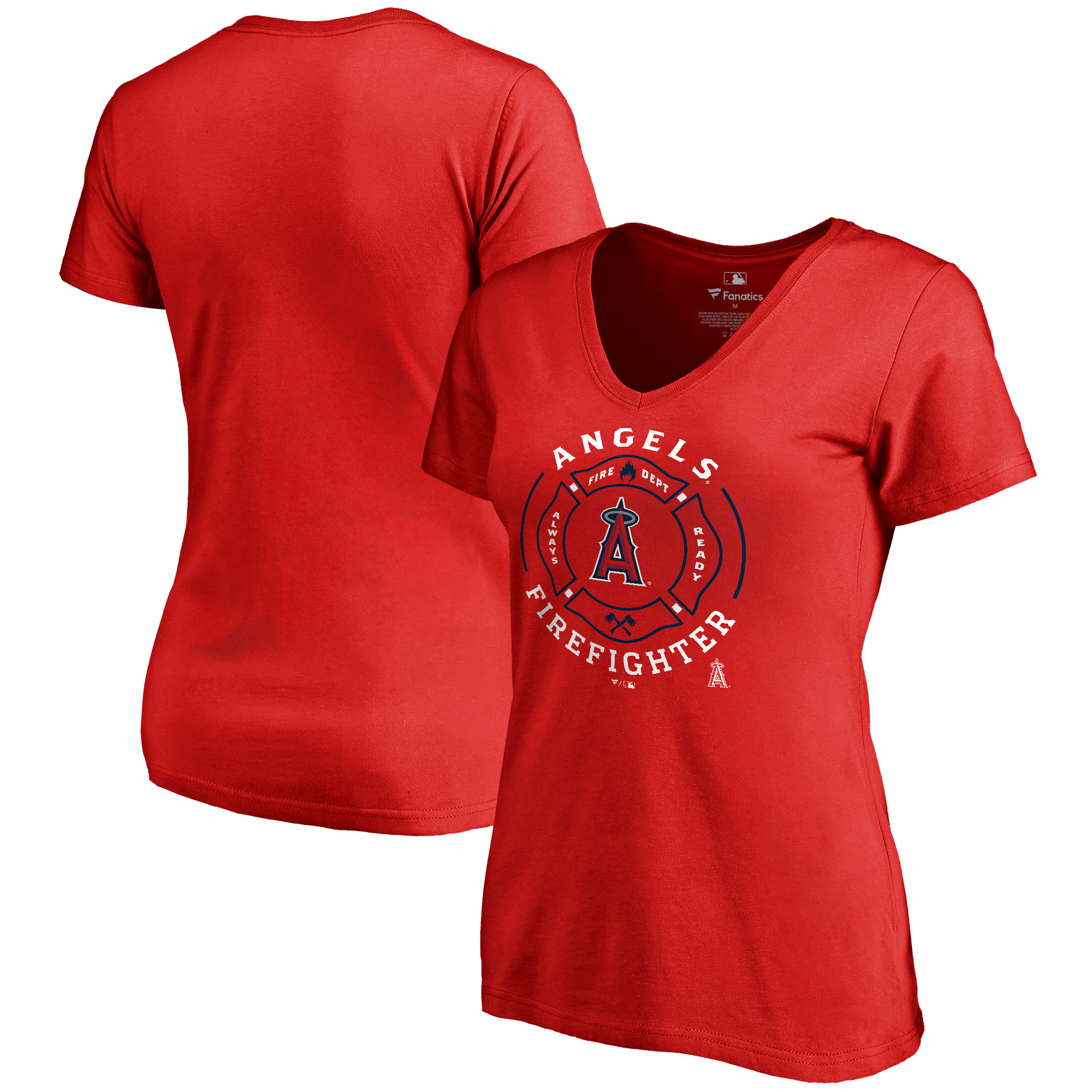 Los Angeles Angels Women's Firefighter T-Shirt - Red