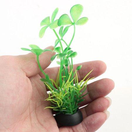 Poisson Réservoir Paysage Plastique Décoration Gazon Artificiel Vert Plante 10pcs - image 2 de 3