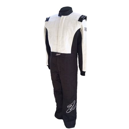 Zamp ZR-30 SFI 3.2A/5 Black/White Three Layer Race Suit Size Small R030003S (Motorcycle Race Suits)