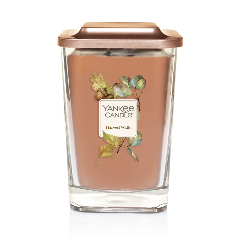 Yankee Candle Harvest Walk Elevation Collection with Platform Lid - Large 2-Wick Square Candle