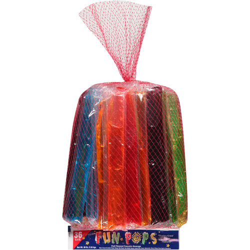 Fun Pops Fruit Flavored Freezer Pops, 2.5 oz, 36 count