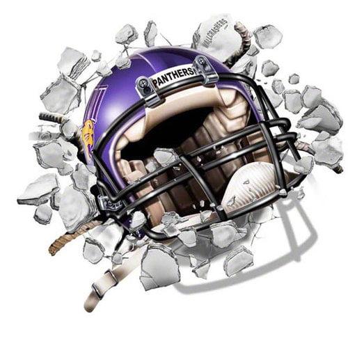 NCAA - Northern Iowa Panthers Football Helmet Wallcrasher