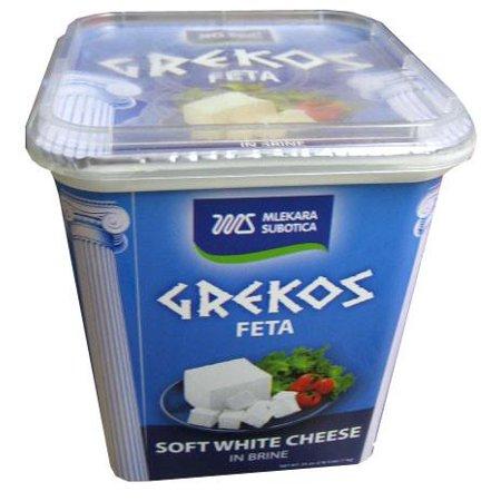 GREKOS Feta Soft White Cheese in Brine, 900g