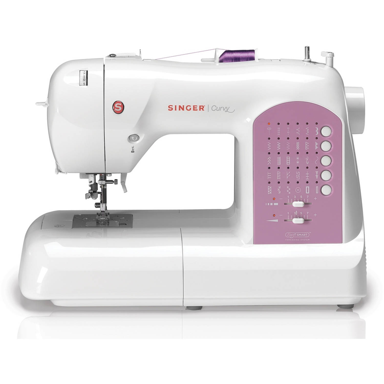 SINGER 8763 Curvy Electronic 30-Stitch Sewing Machine