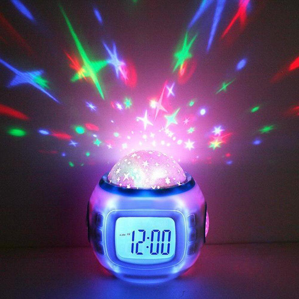 iRola Starry Sky LED Projection Alarm Clock (White) by GPCT