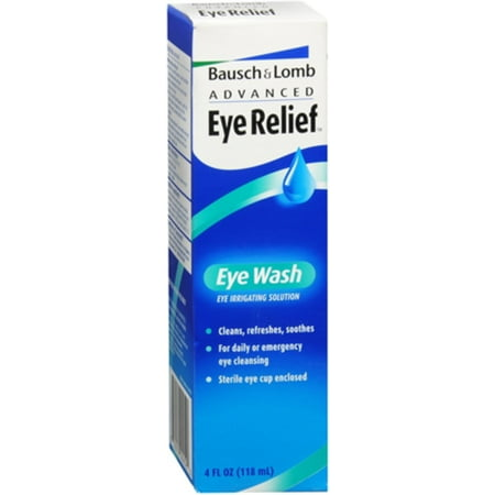 Bausch & Lomb Advanced Eye Relief Eye Wash 4 oz (Pack of 2)