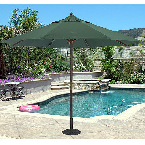 TropiShade 11u0027 Light Wood Market Umbrella, Multiple Colors