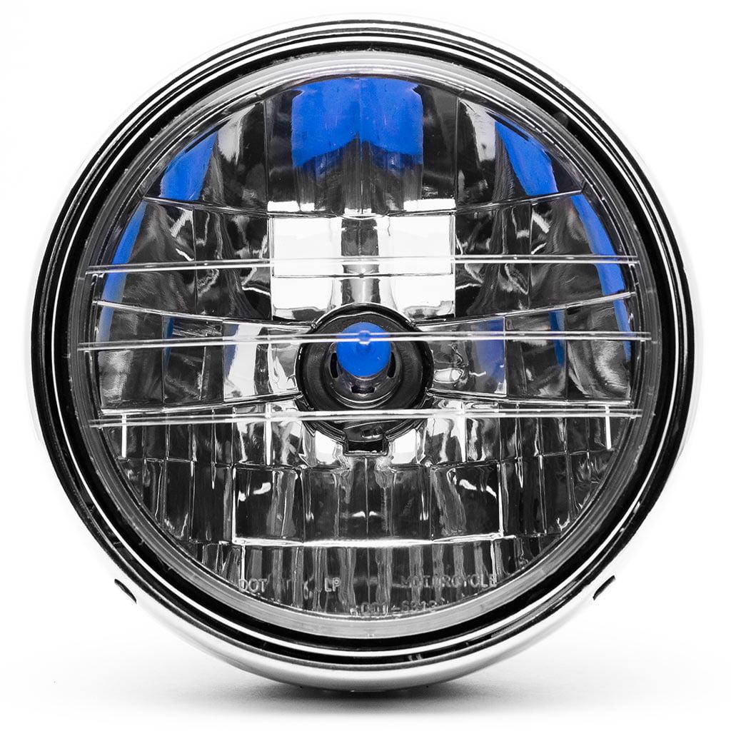 Krator 7.75'' Chrome Headlight H4 Bulb Round Lamp for Harley Davidson Screamin Eagle - image 5 of 6