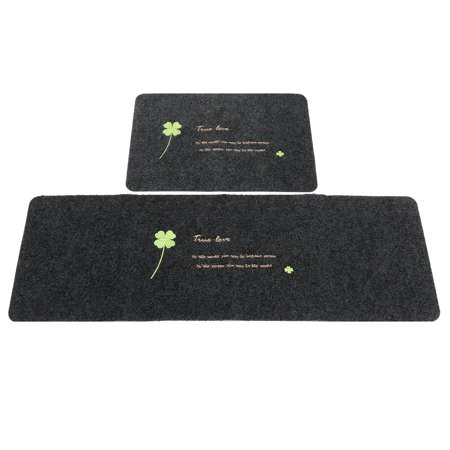 Modern Non-slip Door Floor Rug Mat Kitchen Bathroom Carpet Home Decor FashionType: Door MatShape: RectangleMaterial: Polyester FibersColor: GreyPattern: Embroidered CloverOptional Size:40 x  - image 1 de 5