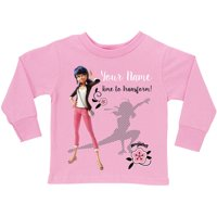 Personalized Miraculous Time to Transform Pink Long Sleeve Tee, Youth, Pink