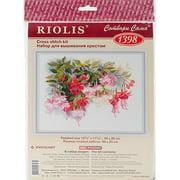 "Fuchsia Counted Cross-Stitch Kit, 15.75"" x 11.75"", 14-Count"