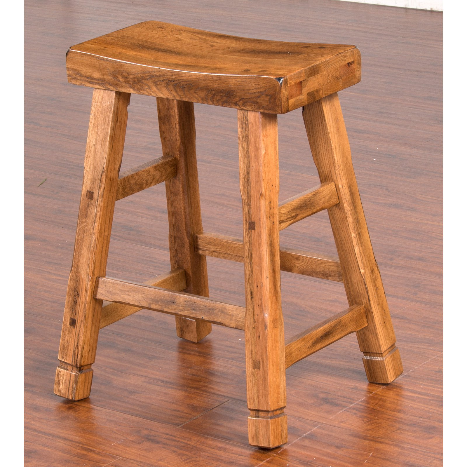 Sunny Designs Sedona 24 in. Saddle Seat Counter Stool
