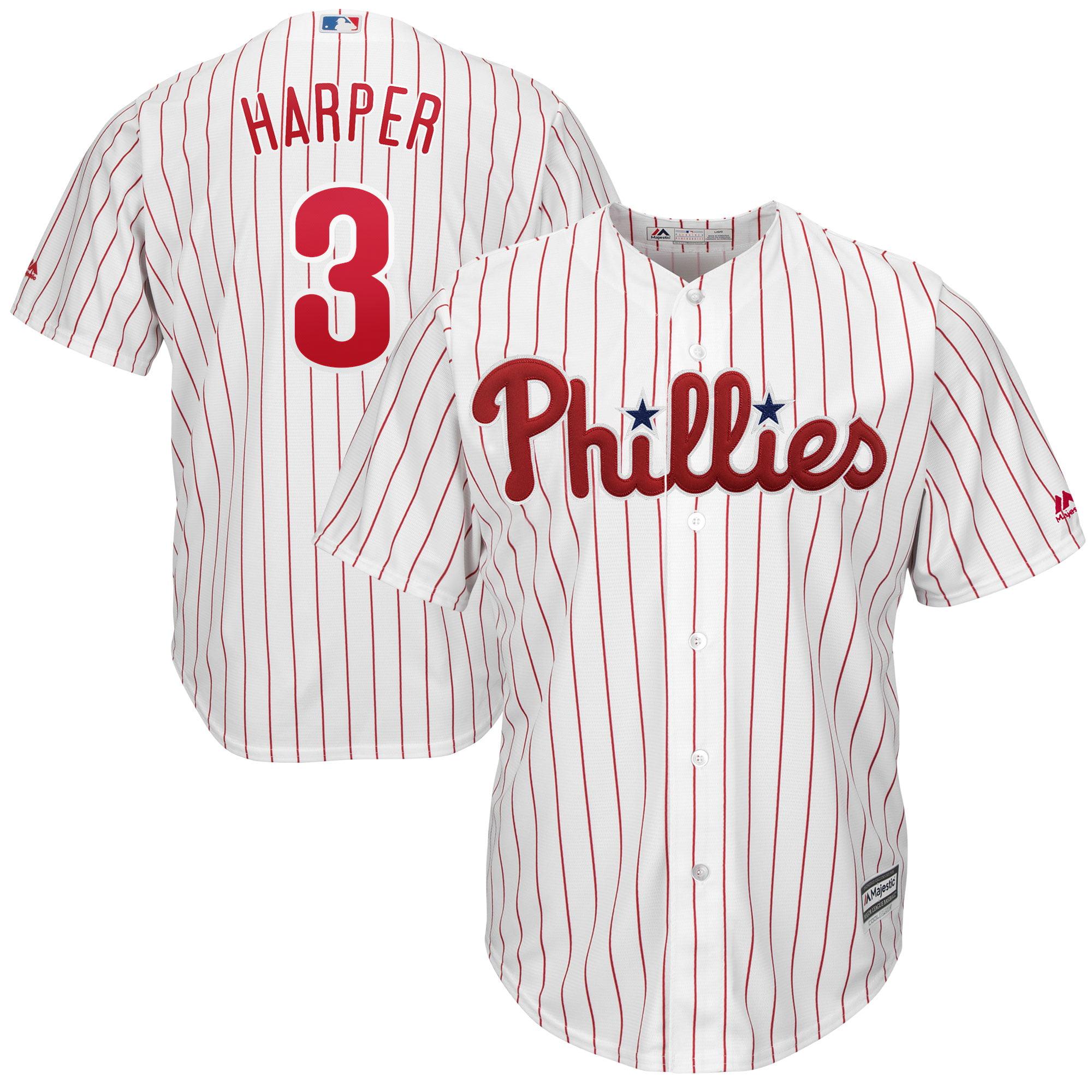 Bryce Harper Philadelphia Phillies Majestic Cool Base Players Choice Club Jersey - White - Walmart.com