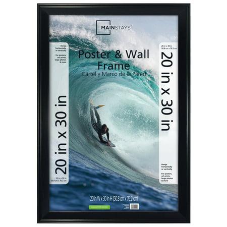Mainstays Ms 20x30 Beveled Black Poster Frame - Walmart.com