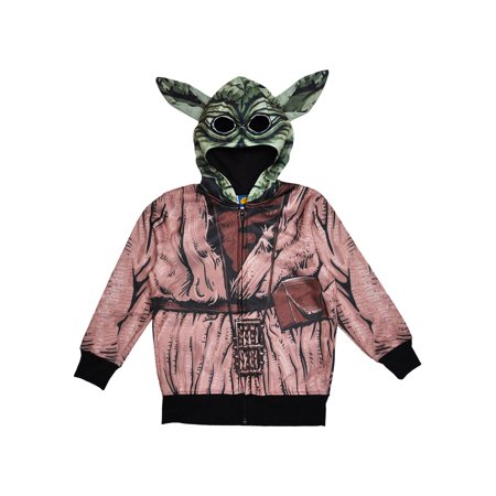 Boys Star Wars Yoda Halloween Costume Hoodie Jacket w/ - Star Wars Costume Hoodie