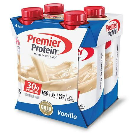 Eas Myoplex Protein Shake (Premier Protein Shake, Vanilla, 30g Protein, 11 Fl Oz, 4 Ct )