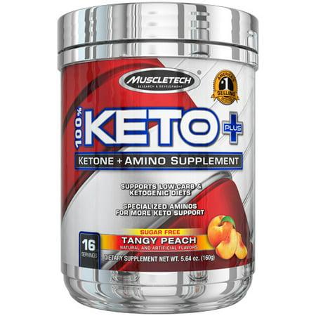 Muscletech Keto Ketone +Amino Powder, Tangy Peach, 16