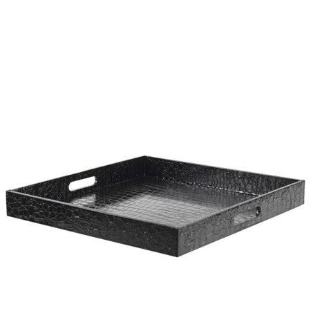 10 Strawberry Street Gator Square Serving Tray in Black - image 1 of 1