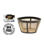 goldtone brand reusable coffee filter fits bunn coffee maker and brewer. replaces your bunn coffee filter 10 cup basket and bunn permanent coffee filter.