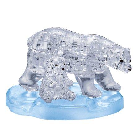 3D Crystal Puzzle - Polar Bear and Baby, 40 Pcs