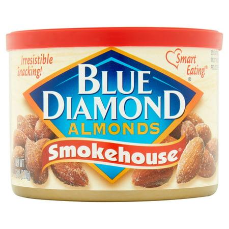Blue Diamond Almonds, Can, Smokehouse, 6 oz