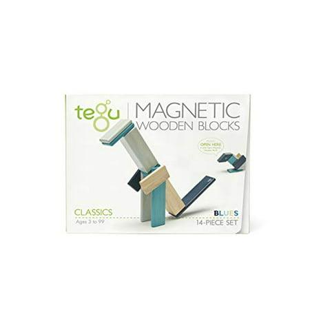 14 Piece Tegu Magnetic Wooden Block Set, Blues - image 1 of 4