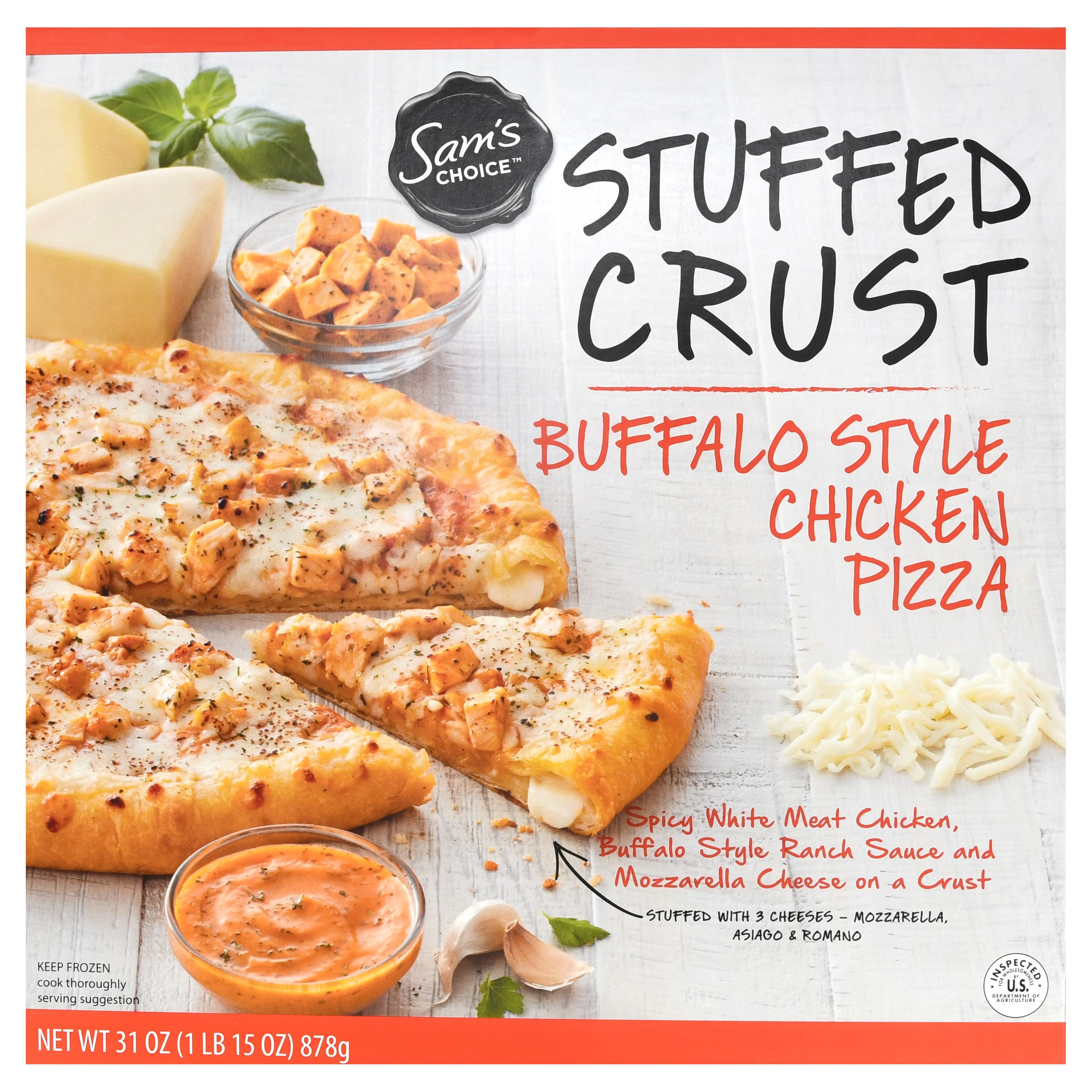 Sam's Choice Frozen Stuffed Crust Buffalo Chicken Ranch Pizza, 31 oz