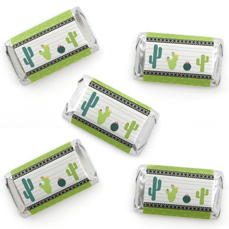 Prickly Cactus Party - Mini Candy Bar Wrappers Fiesta Party Favors - 40 Count (Fiesta Party Ideas)