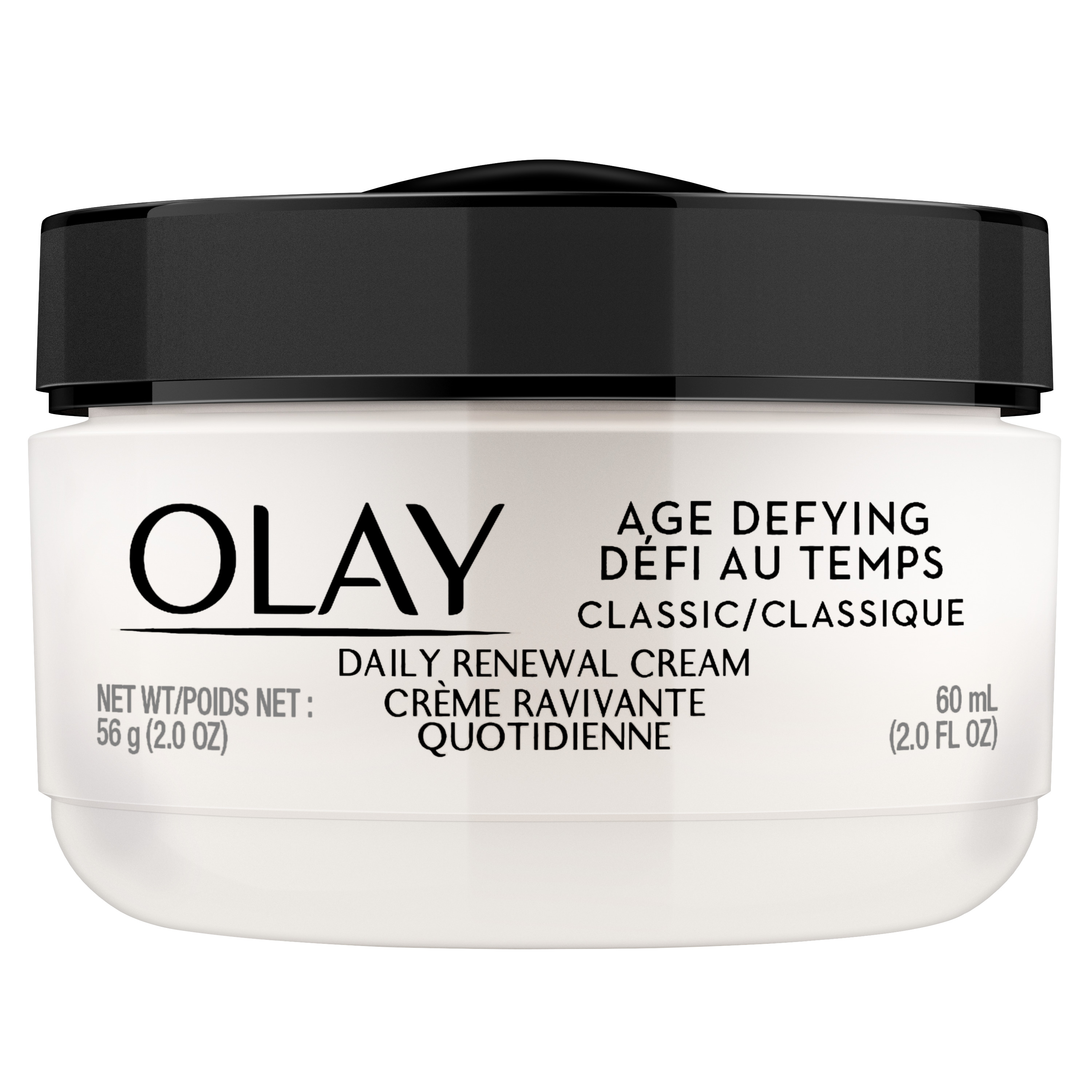 Olay Age Defying Classic Daily Renewal Cream, Face Moisturizer, 2.0 fl oz